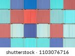 colorful stack of container...   Shutterstock . vector #1103076716