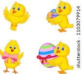 cartoon little chick with... | Shutterstock .eps vector #1103079914