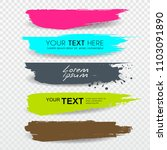 vector banners brush stroke tag ... | Shutterstock .eps vector #1103091890