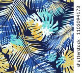 tribal seamless pattern with... | Shutterstock .eps vector #1103094173