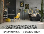 black and yellow posters on... | Shutterstock . vector #1103094824