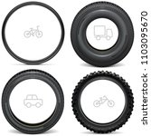 vector vehicle tires with line... | Shutterstock .eps vector #1103095670