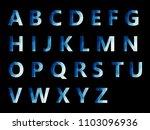 vector alphabet set geometric... | Shutterstock .eps vector #1103096936