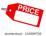red price tag with blank space... | Shutterstock . vector #110309720
