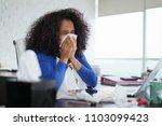 sick african american girl... | Shutterstock . vector #1103099423