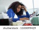 sick african american girl... | Shutterstock . vector #1103099429