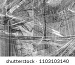 grunge abstract black and white ...   Shutterstock . vector #1103103140