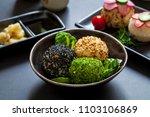 japanese onigiri sushi rice... | Shutterstock . vector #1103106869