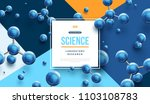 science banner with square... | Shutterstock .eps vector #1103108783