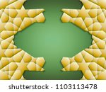 3 stage abstract banner with 3d ... | Shutterstock . vector #1103113478