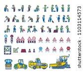 road construction workers in... | Shutterstock .eps vector #1103114573