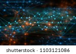 ai brain system data connecting ...   Shutterstock . vector #1103121086