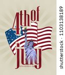 happy 4th of july  ... | Shutterstock . vector #1103138189