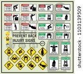 set of safety signs and symbols ... | Shutterstock .eps vector #1103139509