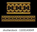 golden  ornamental segment  ...   Shutterstock . vector #1103143049