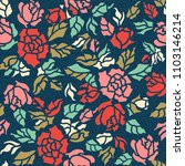 seamless colorful floral... | Shutterstock .eps vector #1103146214