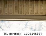 underneath looking up gutter... | Shutterstock . vector #1103146994