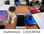 used modern electronic gadgets...   Shutterstock . vector #1103158766
