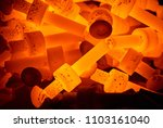 Pile Of Hot Steel Parts
