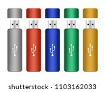 set of colorful portable flash...   Shutterstock .eps vector #1103162033
