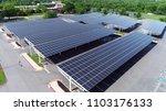 aerial view solar panels in...   Shutterstock . vector #1103176133