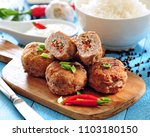 minced meat cutlets stuffed... | Shutterstock . vector #1103180150
