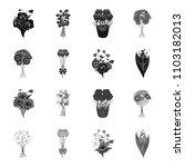 a bouquet of fresh flowers... | Shutterstock .eps vector #1103182013
