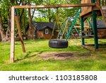 tire swing playground park... | Shutterstock . vector #1103185808
