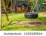 tire swing playground park... | Shutterstock . vector #1103185814