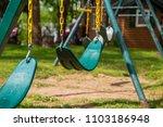 swings swing set play ground... | Shutterstock . vector #1103186948