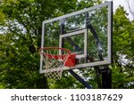 basketball court backboard net... | Shutterstock . vector #1103187629