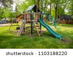 playground play set swing slide ... | Shutterstock . vector #1103188220