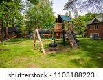 playground play set swing slide ... | Shutterstock . vector #1103188223