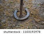 horseshoes game horse shoe cast ... | Shutterstock . vector #1103192978
