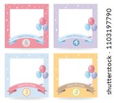 happy birthday card  cute... | Shutterstock .eps vector #1103197790