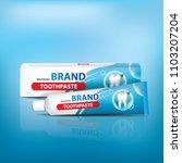 tube of toothpaste vector... | Shutterstock .eps vector #1103207204