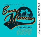 vector t shirt design for santa ... | Shutterstock .eps vector #1103215769