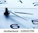 clock face with focus on center.... | Shutterstock . vector #110321720