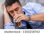 alcoholism  alcohol addiction... | Shutterstock . vector #1103218763