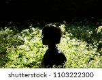 a beautiful young black woman... | Shutterstock . vector #1103222300