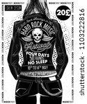 hard rock festival poster.... | Shutterstock .eps vector #1103222816