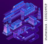 vector 3d isometric city in... | Shutterstock .eps vector #1103224919
