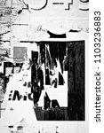 old grunge ripped torn vintage... | Shutterstock . vector #1103236883