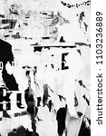 old grunge ripped torn vintage... | Shutterstock . vector #1103236889