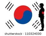 the south korean flag and the...   Shutterstock .eps vector #110324030