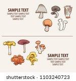 edible mushroom vector... | Shutterstock .eps vector #1103240723