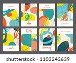 set of creative universal... | Shutterstock .eps vector #1103243639
