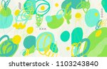 creative doodle art header with ... | Shutterstock .eps vector #1103243840