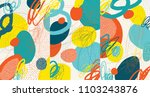 creative doodle art header with ... | Shutterstock .eps vector #1103243876
