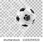 soccer ball in a goal net... | Shutterstock .eps vector #1103254523